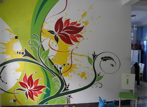 墙面手绘画