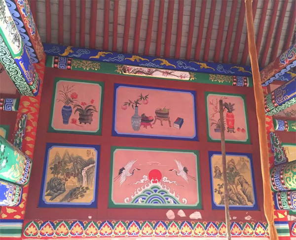中国古建筑图片 手绘简单