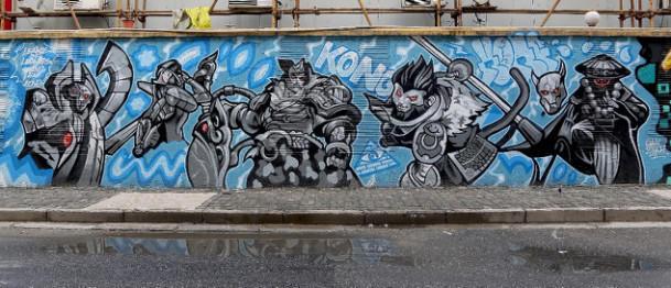 有几个关于文化墙手绘使用的颜料问题
