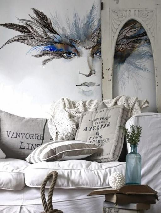影楼摄影棚使用用法墙绘手法的越来越多