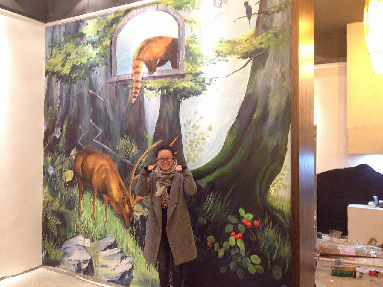 笔者就介绍一下如何打造田园风格的墙绘