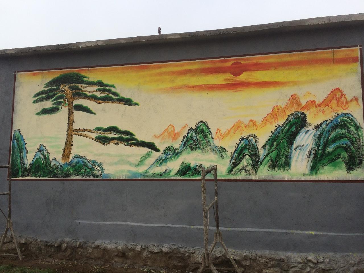墙绘的整个制作过程介绍