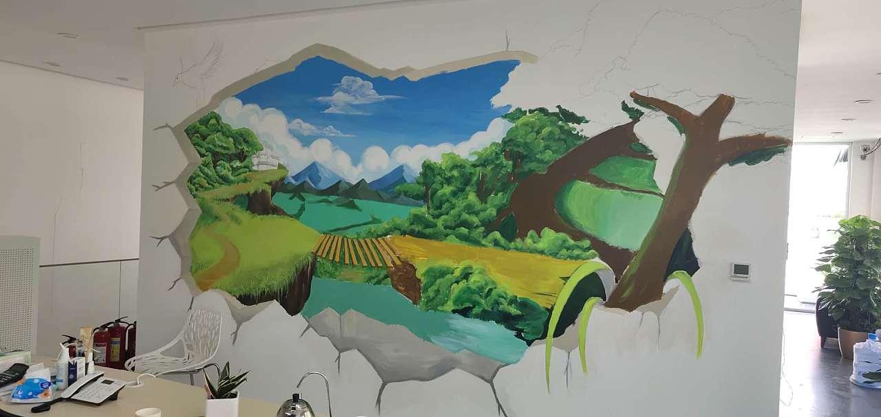 墙绘是一种极具创新理念的装饰方式