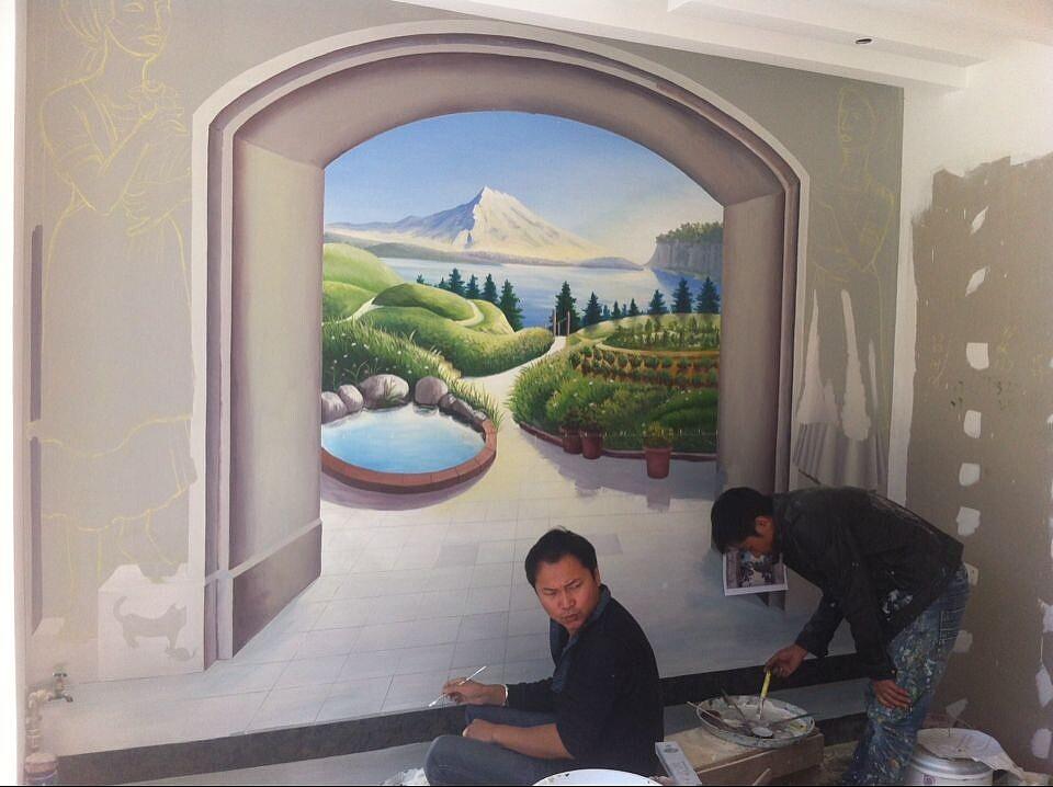 介绍一下中式墙绘的制作要点